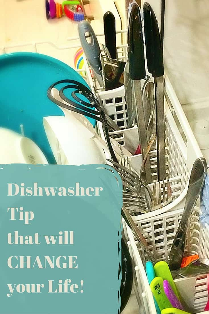 A quick dishwasher tip that will help save time. And saving time while cleaning will change your life.