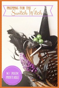 Start your switch witch Halloween tradition with these fun baskets and cute poem. Free Poem Printable