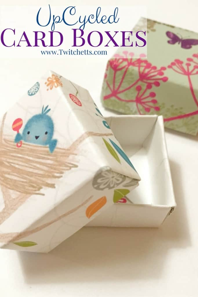 Upcycled card boxes easy upcycled crafts for kids twitchetts make these card boxes out of upcycled greeting cards great for gift giving jewelry m4hsunfo