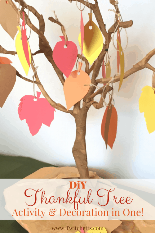 Create a DIY Thankful tree for one of your thanksgiving decorations this year! This activity will help you teach your kids the meaning for the season.