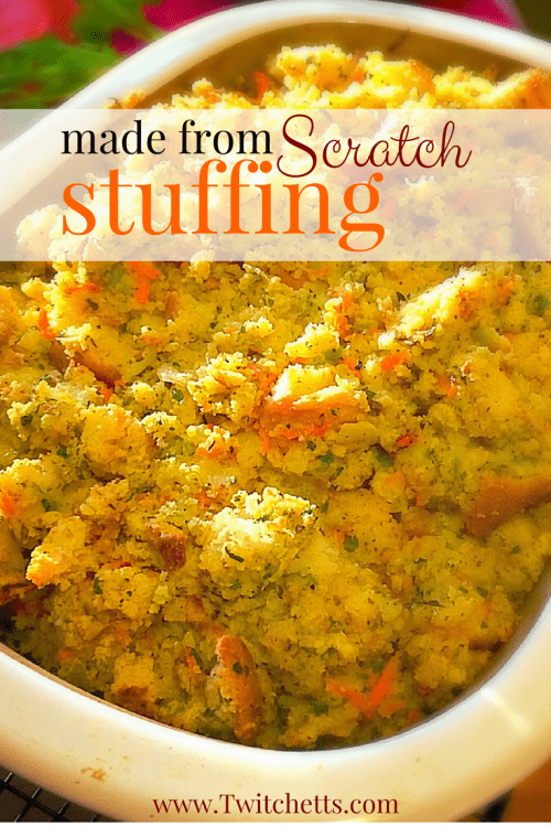 If you are looking for the best homemade Thanksgiving stuffing this is it! Made with cornbread and fresh veggies it is worth every minute!