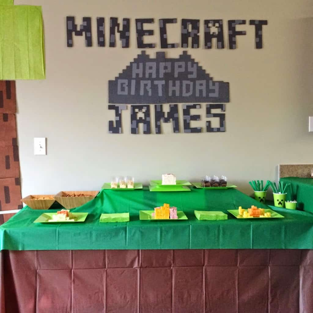 This Minecraft party was epic. The best birthday party my boy has had. With fun food, decorations, and an amazing activity it'll be hard to beat next year!