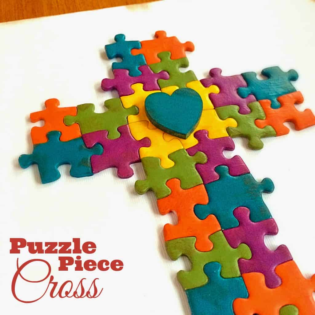 The Idea Came To Me While I Was Browsing Pinterest Saw A Childrens Craft Using Puzzle Pieces Child Had Just Laid In Pile That