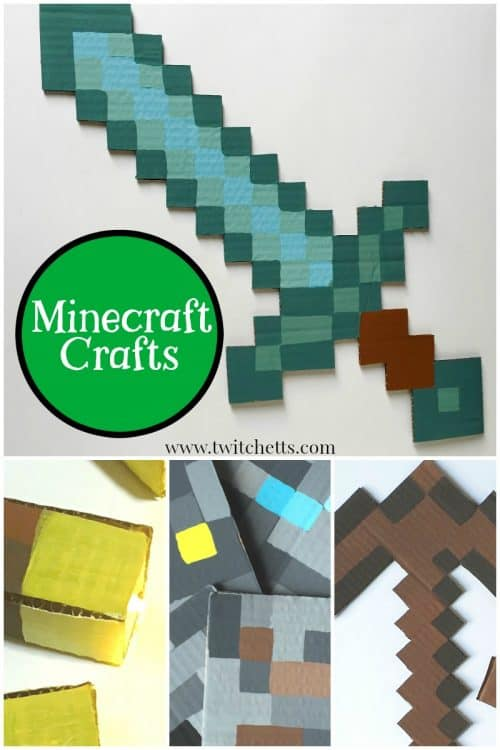 Diy minecraft crafts how to make swords torches pickaxes and more diy minecraft crafts that are perfect for any gamer who loves minecraft grab some cardboard solutioingenieria Images