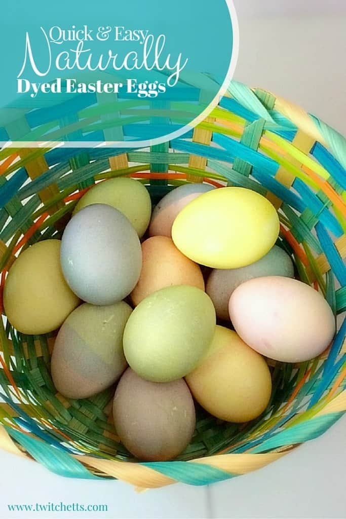 Naturally dyed Easter eggs.  Easter egg decorating with natural dyes.  Quick tips that make natural dyes for eggs as easy as the egg dye kits from the store!