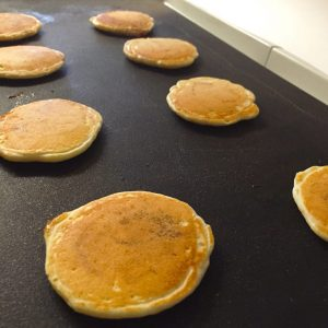 Mini Syrup Filled Pancakes