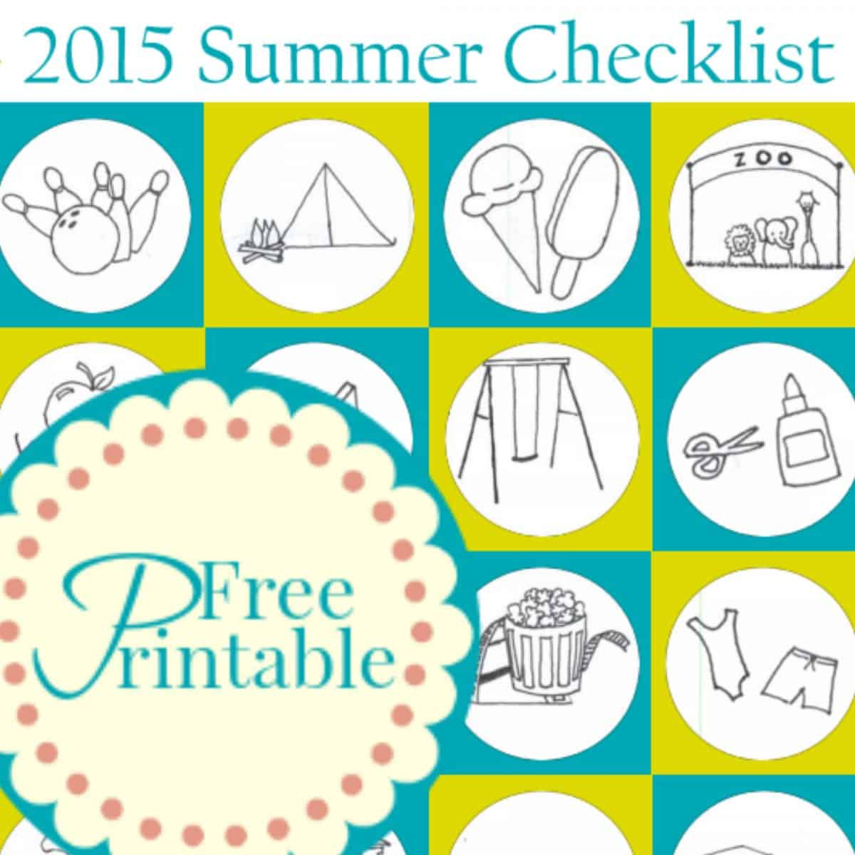Summer Checklist ~ A Bucket List of Summer Fun!