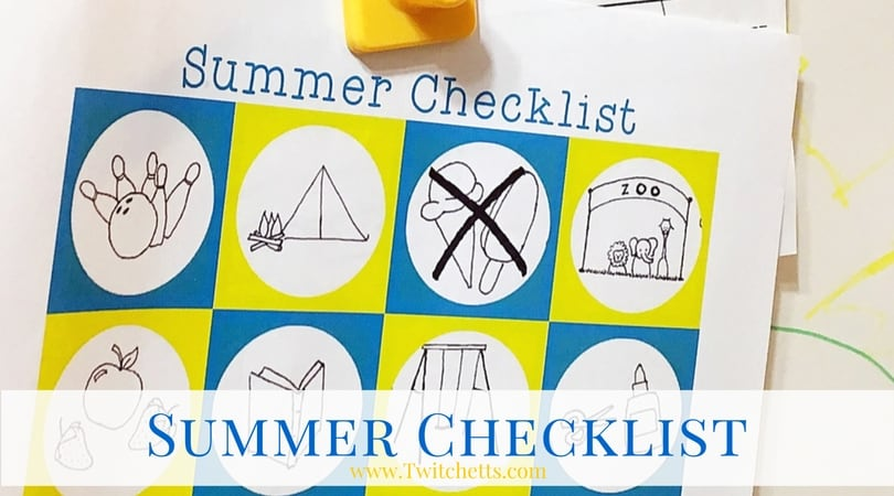 Summer Checklist. A free printable to create a summer bucket list full of great memories!