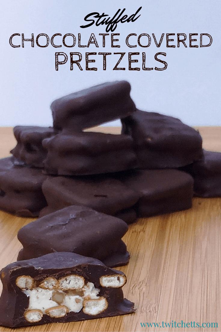 Stuffed Chocolate Covered Pretzels