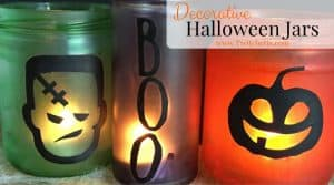 These decorative Halloween jars a fun Halloween craft to do with your kids. From pumpkins, to Frankenstein, to words there are so many options for this fun Halloween decoration!