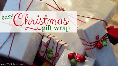 This fast and easy Christmas gift wrap can be done by anyone! Get the look of fancy gift wrap with the ease of one simple step!