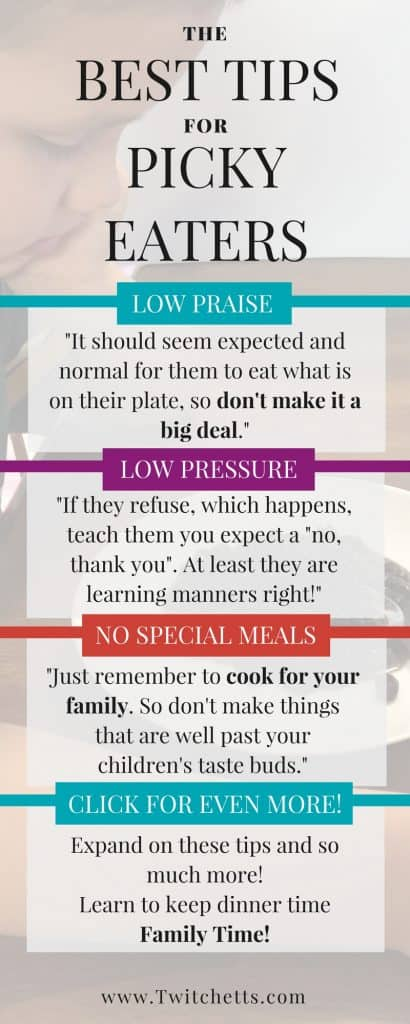 Do you have a Picky Eater at home? Try to help your child learn to try new foods without turning dinner into a yelling match.