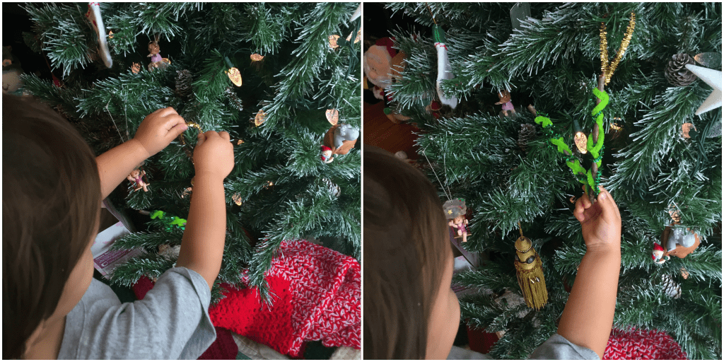 A fun Kids Craft Nature Ornament for Christmas decorating. This fun activity will leave you with a fun memory to go with the Christmas decoration.