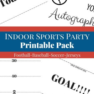 Indoor sports party printable pack