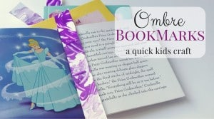 Grab together a few supplies and have fun making this quick kids craft. These Ombre Bookmarks are fun little keepsakes your kids can create.