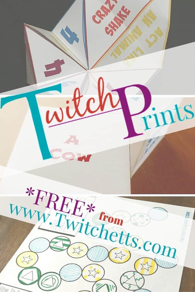 We have added all of our fun Free Printables to one spot. This will give our Subscribers easy access to all of our Twitch-Prints.