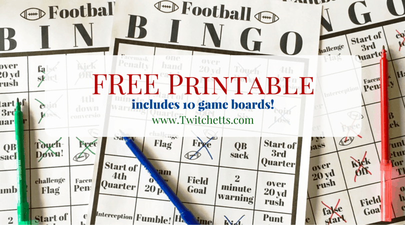 Football Bingo – Free Printable Game Boards