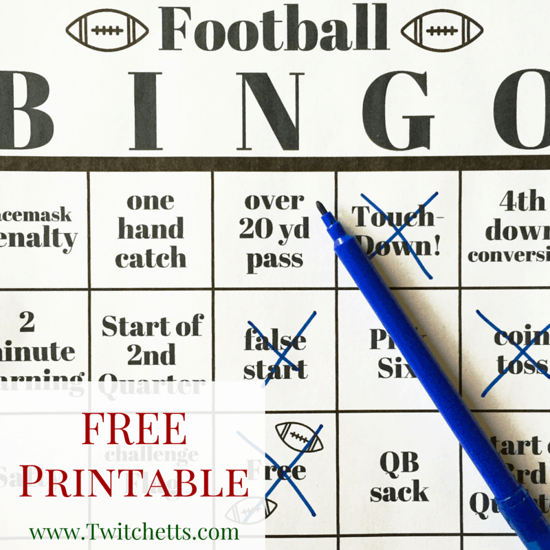 Football Bingo - Free Printable Game Boards - Twitchetts