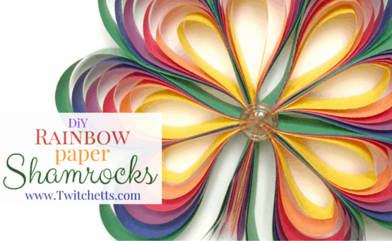 These fun paper crafts, Rainbow Shamrocks, are perfect for St. Patrick's Day! Use it as a kids activity or make one yourself!