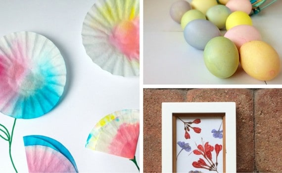 6 Fun Spring Crafts. Eggs for Easter and Flower craft tutorials