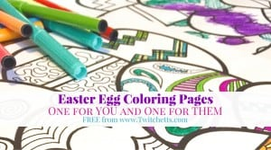 Grab these Easter Egg Coloring Pages. This is the perfect activity for you and your kids. Print off these FREE pages as many times as you like!