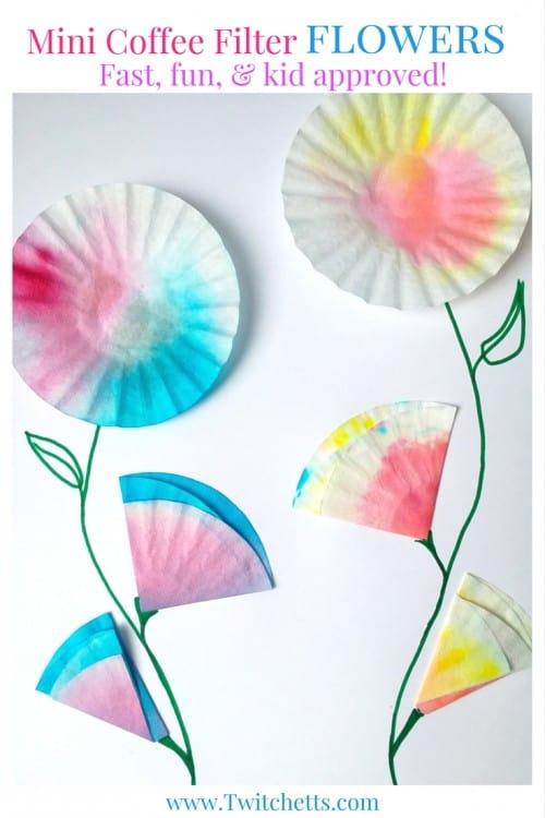 coffee filter flowers preschool upcycled crafts for mini coffee filter flowers 984