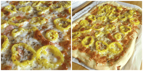 This homemade banana pepper pizza is a quick and easy dinner. This spicy pizza is a fun variation of a traditional white pizza!