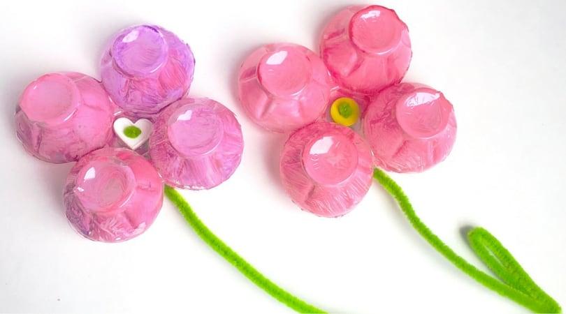 Egg Carton Crafts For Kids ~ Egg Carton Flower Magnets
