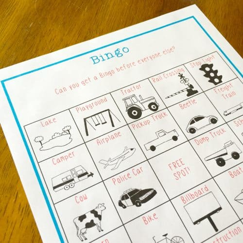 Free Road Trip Bingo Printable - Add this free printable to your next car ride to make it feel shorter. A fun round of travel bingo is just what your family vacation needs!