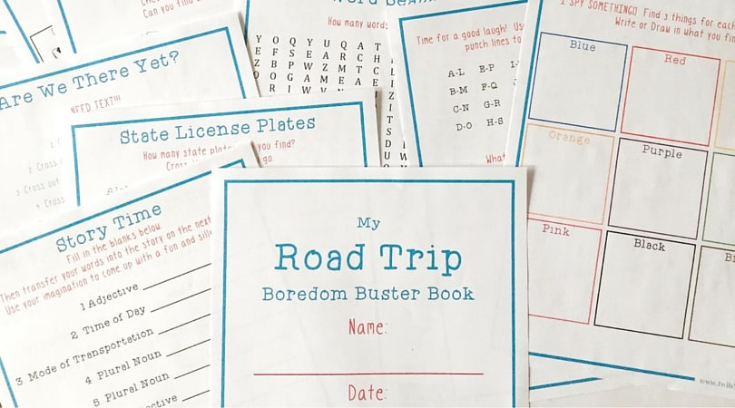 20 printable road trip activities that will make your trip awesome