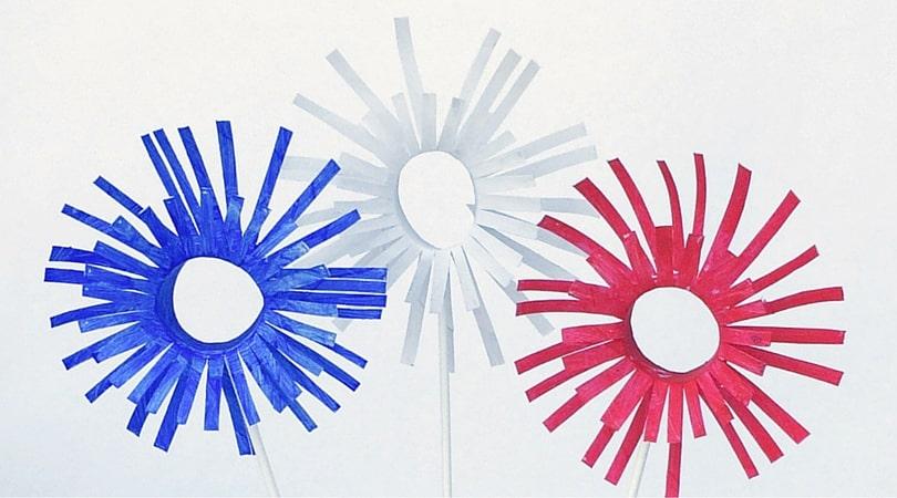 3D Paper Firework Craft ~ Patriotic Crafts for Kids