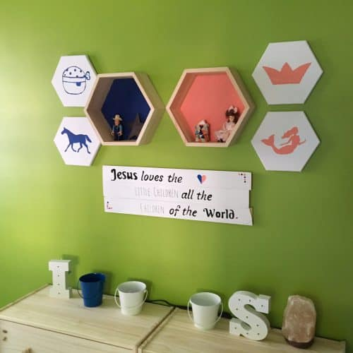 Brother and Sister shared bedroom. Great ideas for gender neutral room. Used coral and blue colors. Simple design with corner beds. DIY tips and super affordable.