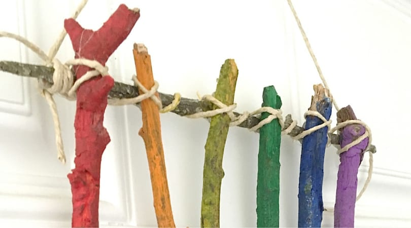 How to make fun twig art with your kids
