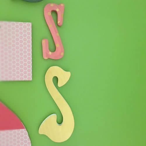 Initial Wall Collage-Simple Painted Letters