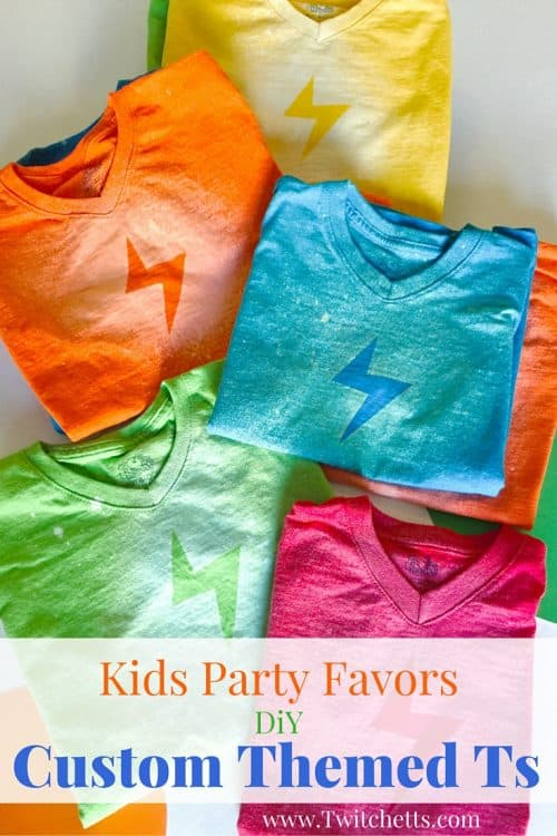 Create these custom t-shirts for any party! You can create this silhouette effect in just about any shape you can think of! Perfect for kids party favors or creating a theme for any event!