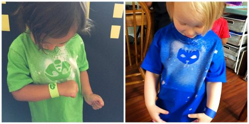 These fun custom t-shirts make the perfect party favor for your kids PJ Masks Birthday party! We did Catboy, Gekko, Owlette, and Night Ninja!