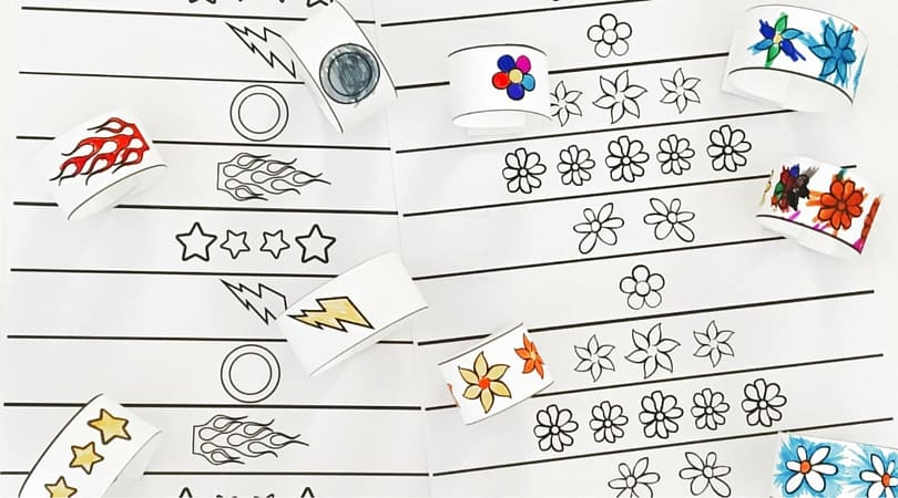 DiY Paper Bracelets for Kids – Free Printable