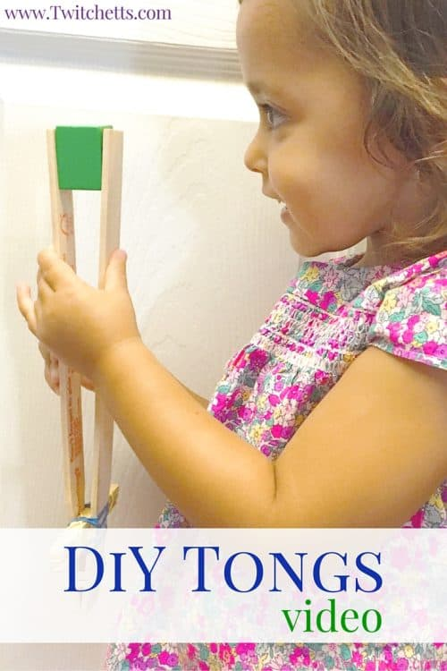 You can use these DiY tongs for easy play-based learning activities for your kids! They are fast and easy to make. Perfect for building fine motor skills and hand-eye coordination!