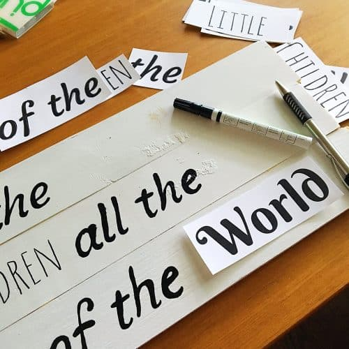 Inspirational Quote Wall Art-Use this quick tip to make DIY wooden signs easier to create.