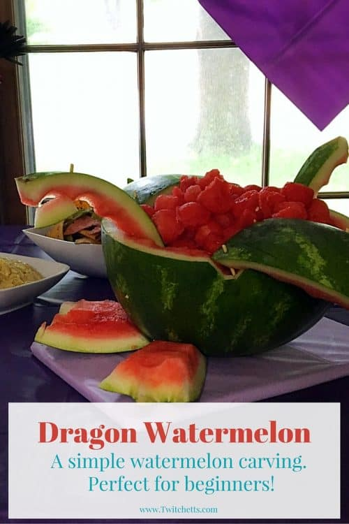 Watermelon Dragon from our Dragons: Race To The Edge party. A Netflix spin-off of How To Train Your Dragon. It was a fun dragon party that the kiddos loved at her birthday party