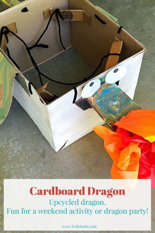 Create a Cardboard Dragon using items you have around the house. Perfect for a dragon party, dragon costume, or fun dragon activity