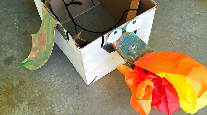 Cardboard Dragon ~ A Fun Party Activity