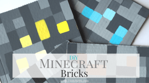 Make these DiY Minecraft Bricks for your Minecraft fan. Make them for a room decoration, for a Minecraft birthday party, or just a fun craft!