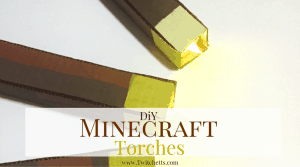 Make these DiY Minecraft Torches for your Minecraft fan. Make them for a room decoration, for a Minecraft birthday party, or just a fun craft!