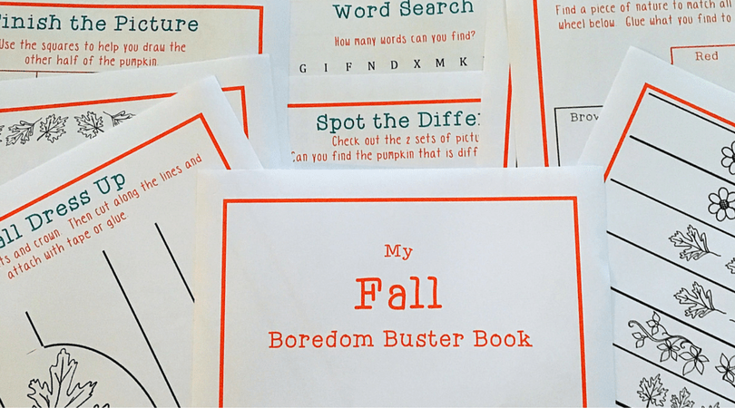 Printable Fall Activities ~ A Boredom Buster