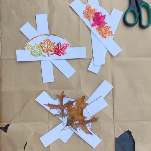 Print off your Printable Leaf Crown for your little one for some fall fun! This autumn activity can be done so many ways.