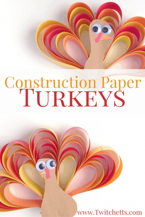 Make this construction paper turkey craft this year! This Thanksgiving craft is going to be a favorite to make over and over!