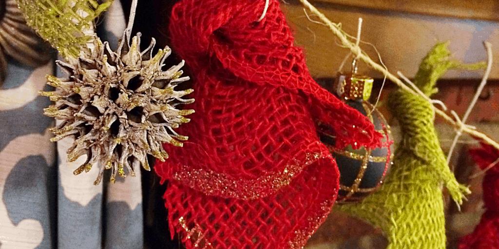 DIY Christmas Garland ~ With Natural Sweetgum Balls