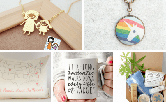 Handmade Gift Ideas for Moms-A gift guide of unique women's gifts ideas from Etsy shops. Perfect gifts for Christmas, Hanukkah, Mother's Day and any other gift giving celebration.