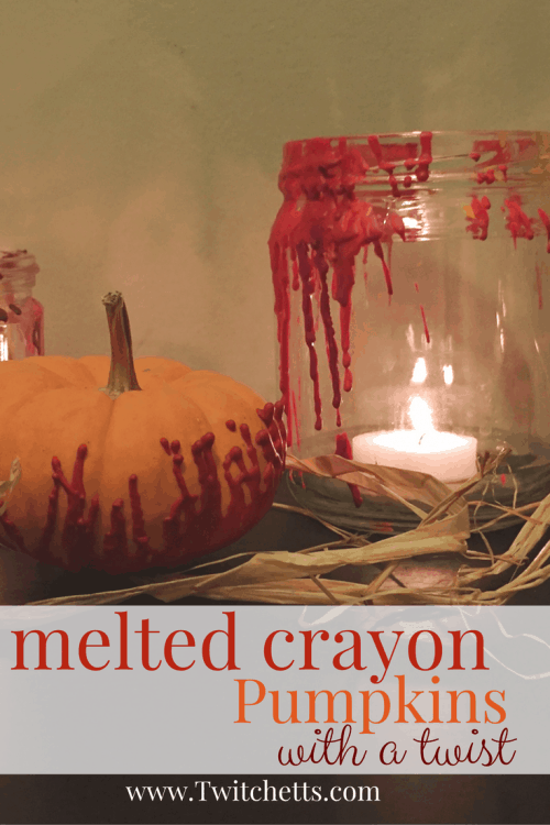 Next time you make melted crayon pumpkins do it with this fun twist! A simple twist to this popular Halloween craft. Just use a hair dryer. Plus our tip gives you a fun decorative Halloween candle holder.